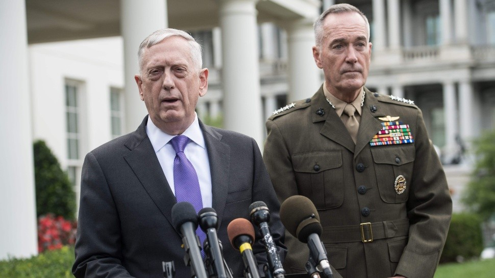 James Mattis, al comunicar la decisión de Trump (AFP).
