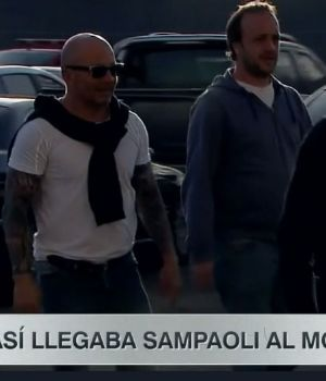 Sampaoli llega al estadio de River. (Captura)