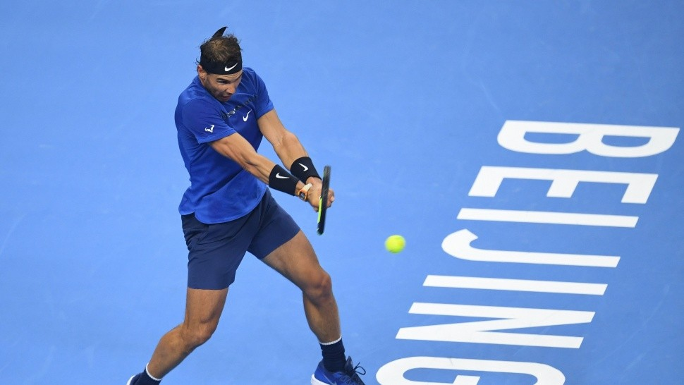 Rafa estuvo concentrado e imbatible en China (AFP).