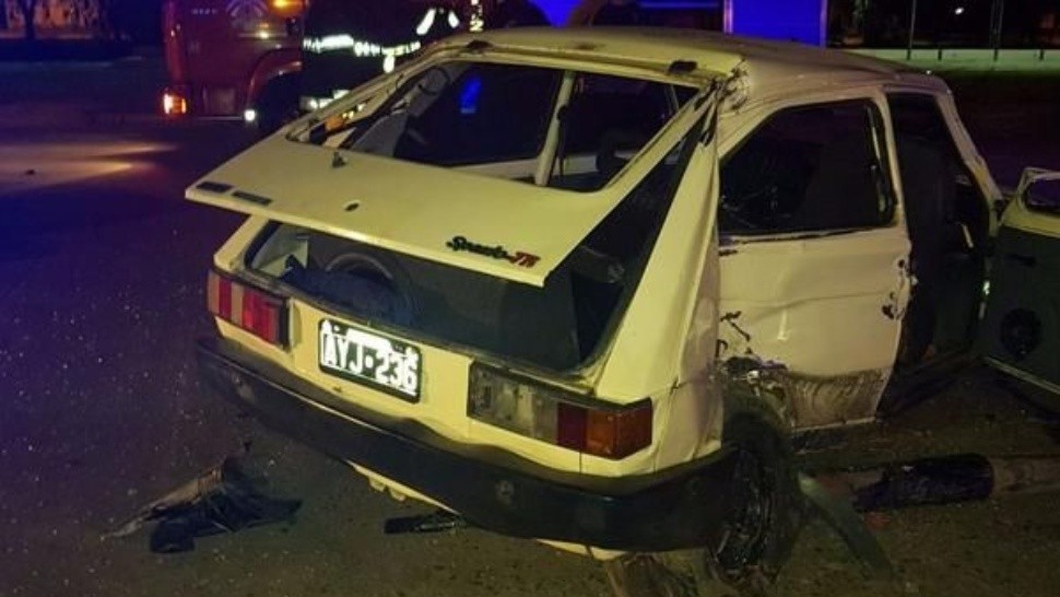 El Fiat 147 que produjo el incidente.