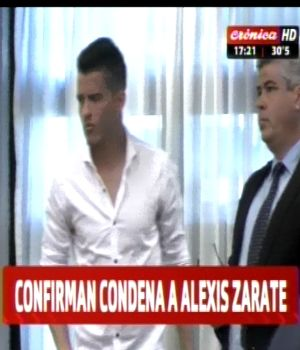 Confirman condena a Alexis Zárate