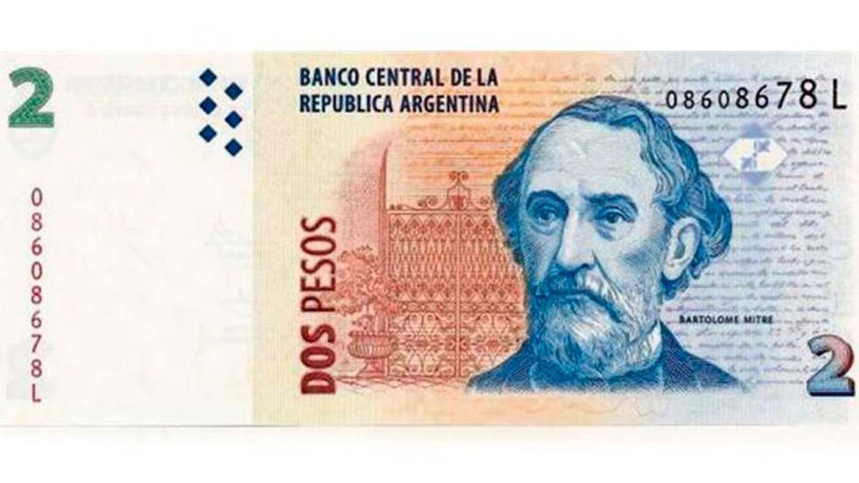 El billete de dos pesos se despide definitivamente.