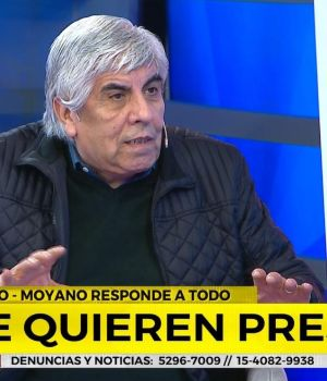 Hugo Moyano brindó una entrevista exclusiva en Crónica TV. (Captura)
