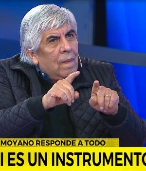 Moyano, en un mano a mano imperdible por Crónica TV. (Captura)