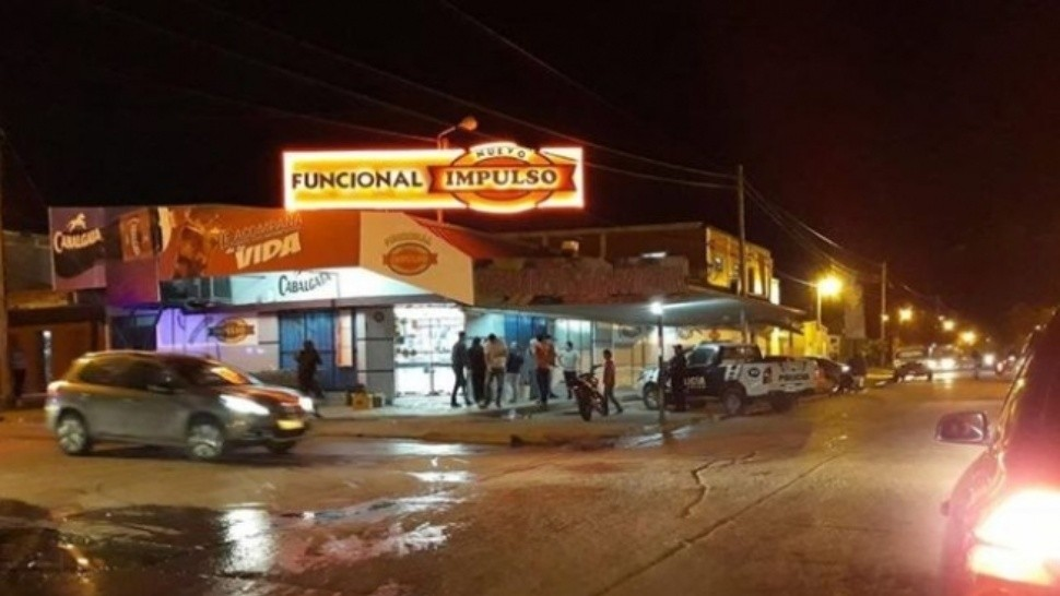 Los incidentes ocurrieron en el supermercado