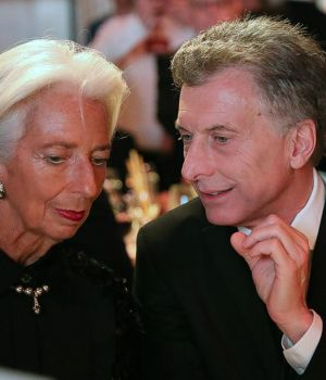Lagarde y Macri. Juntos en el evento de Atlantic Council celebrado en Nueva York.
