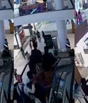 Ocurrió en el Nucleus Mall (Captura de video).