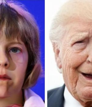 Tanto Theresa May como Donald Trump, aquí mediante la FaceApp, repudiaron la novedad.