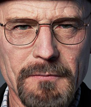 "Walter White, de la serie ""Breaking Bad""."