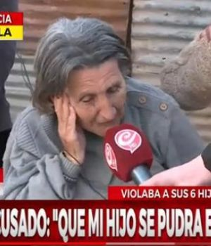 La madre del agresor habló en exclusiva con Crónica HD (Captura TV).