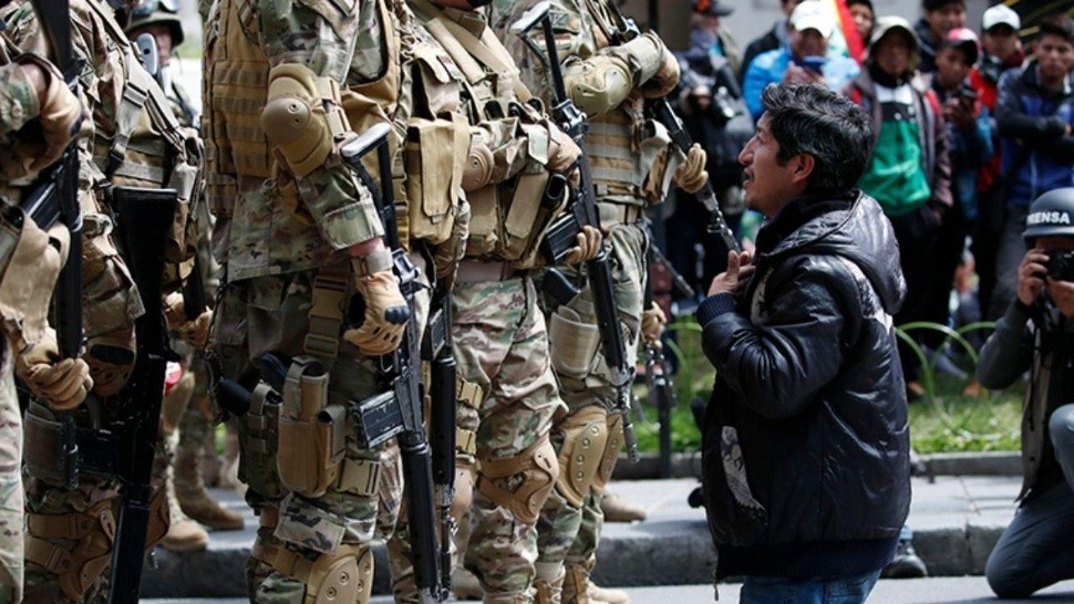 Strong repression in Bolivia remains.
