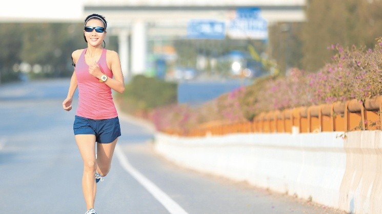 young fitness woman runner running on road; Shutterstock ID 378091960; Keyword: woman running